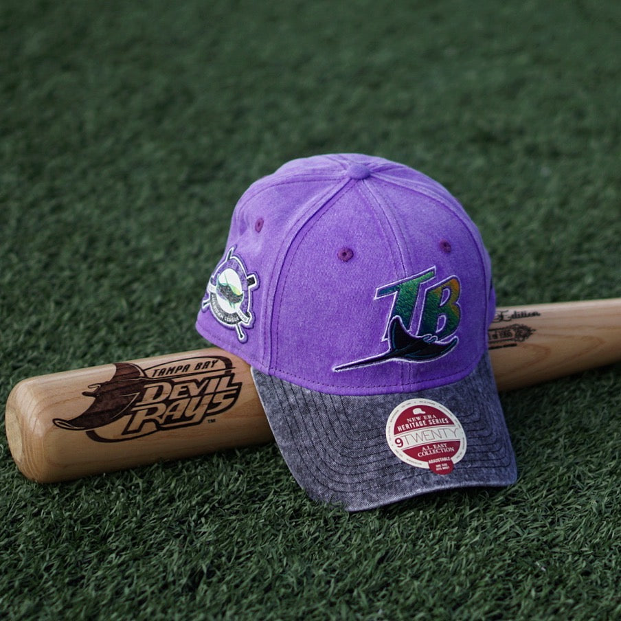 "New Era Heritage Series Dad Hat ""Tampa Bay Rays"" Purple"