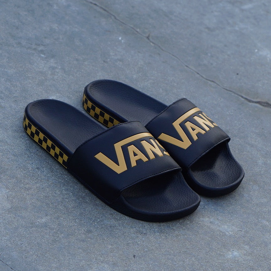 "Vans Slide-On ""Checkerboard Sidewall"" Sunflower"