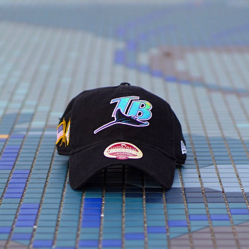 "New Era Heritage Series Dad Hat ""Tampa Bay Rays"" Black"