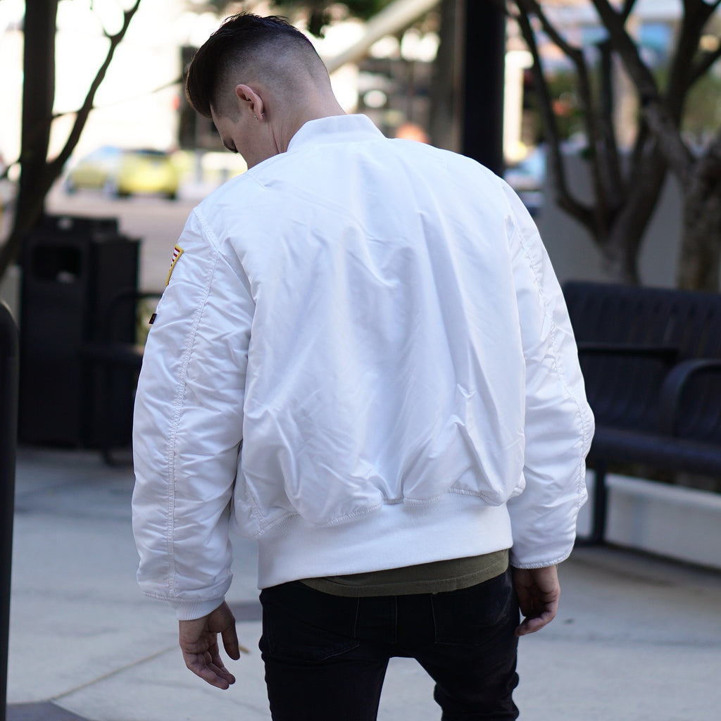 "Alpha Industries NASA ""MA-1 Flight Jacket"" Reversible white"