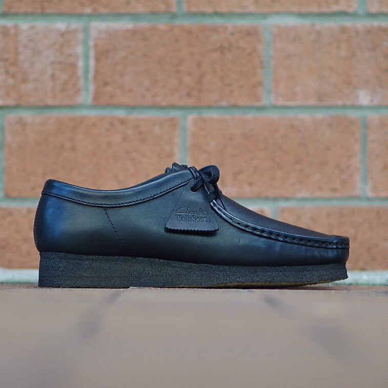 "Clarks Wallabee ""Smooth Black"" Leather"
