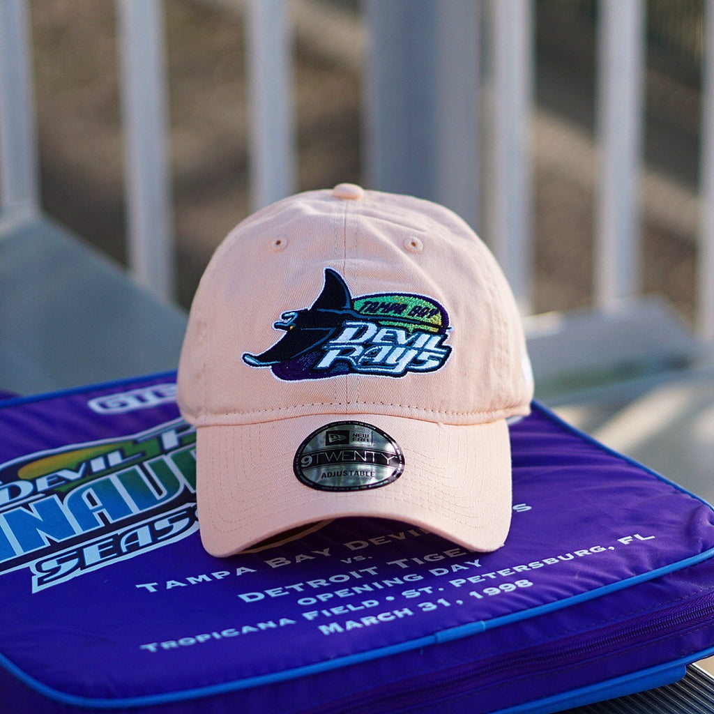 "FRSH X New Era Cap ""Pastels"" Tamp Bay Rays Throwback Dad Hat ""Peach"""