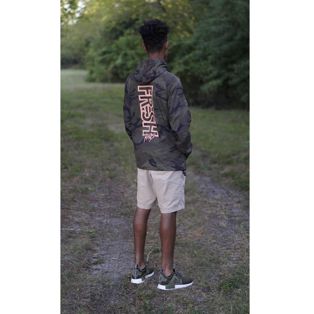 "Fresh Rags Packable Anorak Windbreaker ""Camo"""