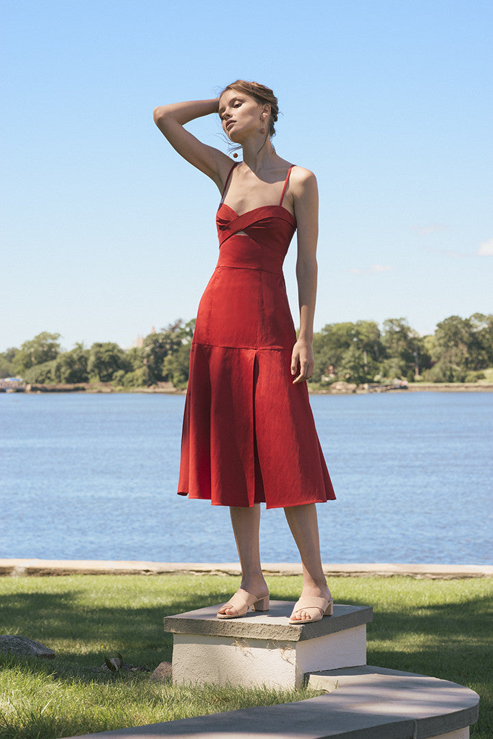 Paloma Dress in Tomato
