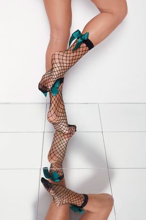 "NET BOW Anklet Stockings ""blackpython"""