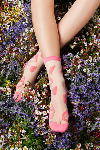 "Artist Edition TAMAY Glass Ankle Socks ""kawaii"""