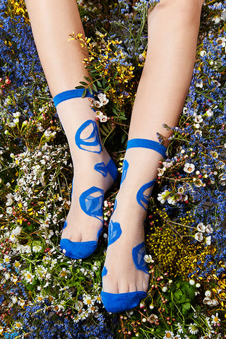 "Artist Edition TAMAY Glass Ankle Socks ""nami"""
