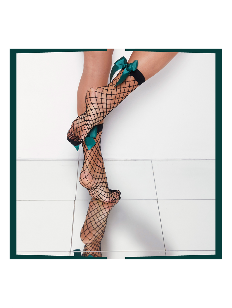 NET BOW Anklet Stockings