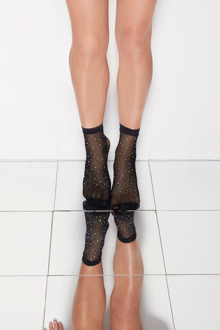 "Net Anklet Stockings ""crystal aurora"""