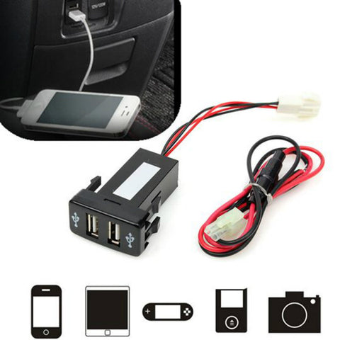IN DASH CAR MOBILE FAST CHARGER 2.1 A /1.2A 2 Slots