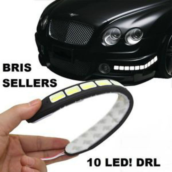 Water Proof Flexible Day Time COB DRL Lights 23 cm