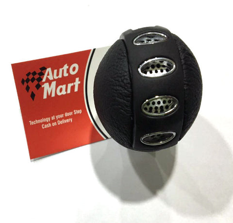 Universal Silver & Black 5 speed Gear knob