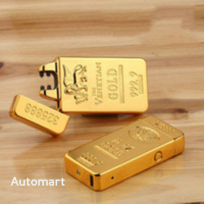 Gold bar Usb rechargeable laser Lighters