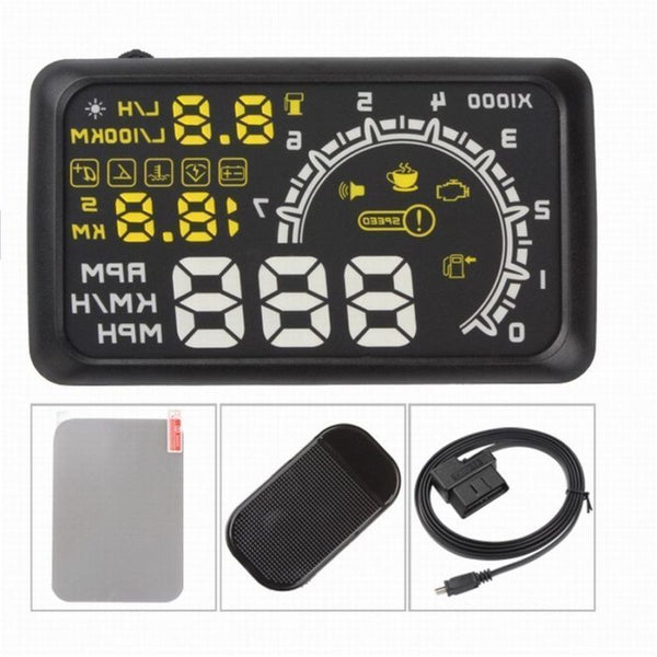 2016 LED Car HUD Head Up Display OBD2 Interface Plug/Play