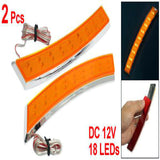 Side Marker Adhesive 18 LED Turn Signal Lights ( Orange )