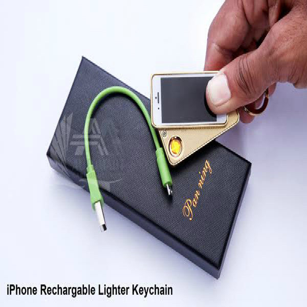 Mini i Phone Recharge Able Lighter Keychain