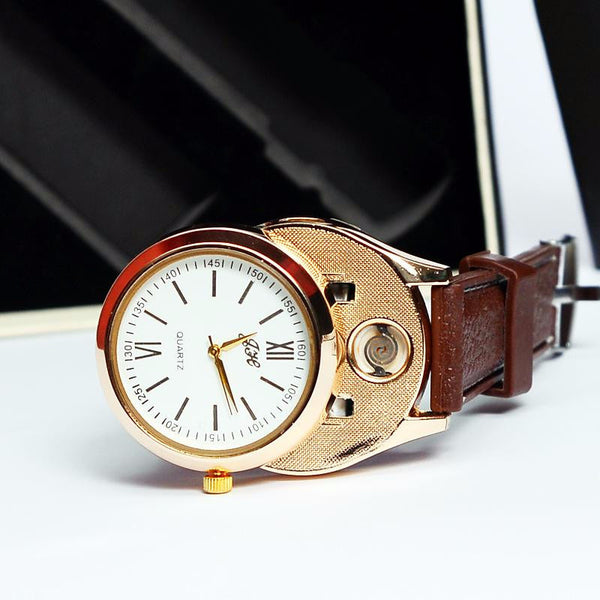 Usb Lighter Watch Brown