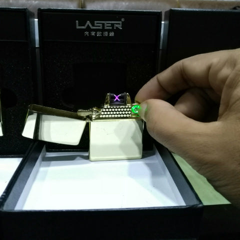 Gold Plasmatic Dual X Laser Lighters