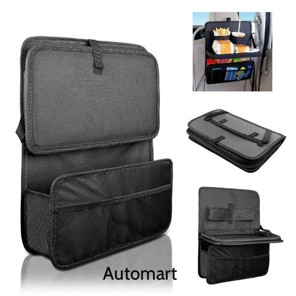 Multi Functional Pockets Car Seat Organizer With Tray
