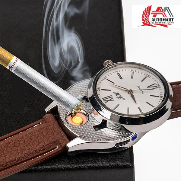 Usb Lighter Watch silver