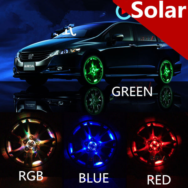 2016 New 4 Modes 12 LED Car Auto Solar Energy Flash Wheel Lamp