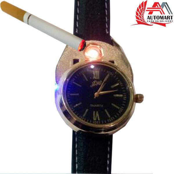 Usb Lighter Watch Black&Gold