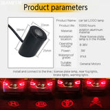 Laser LED Tail Logo Lamps Red