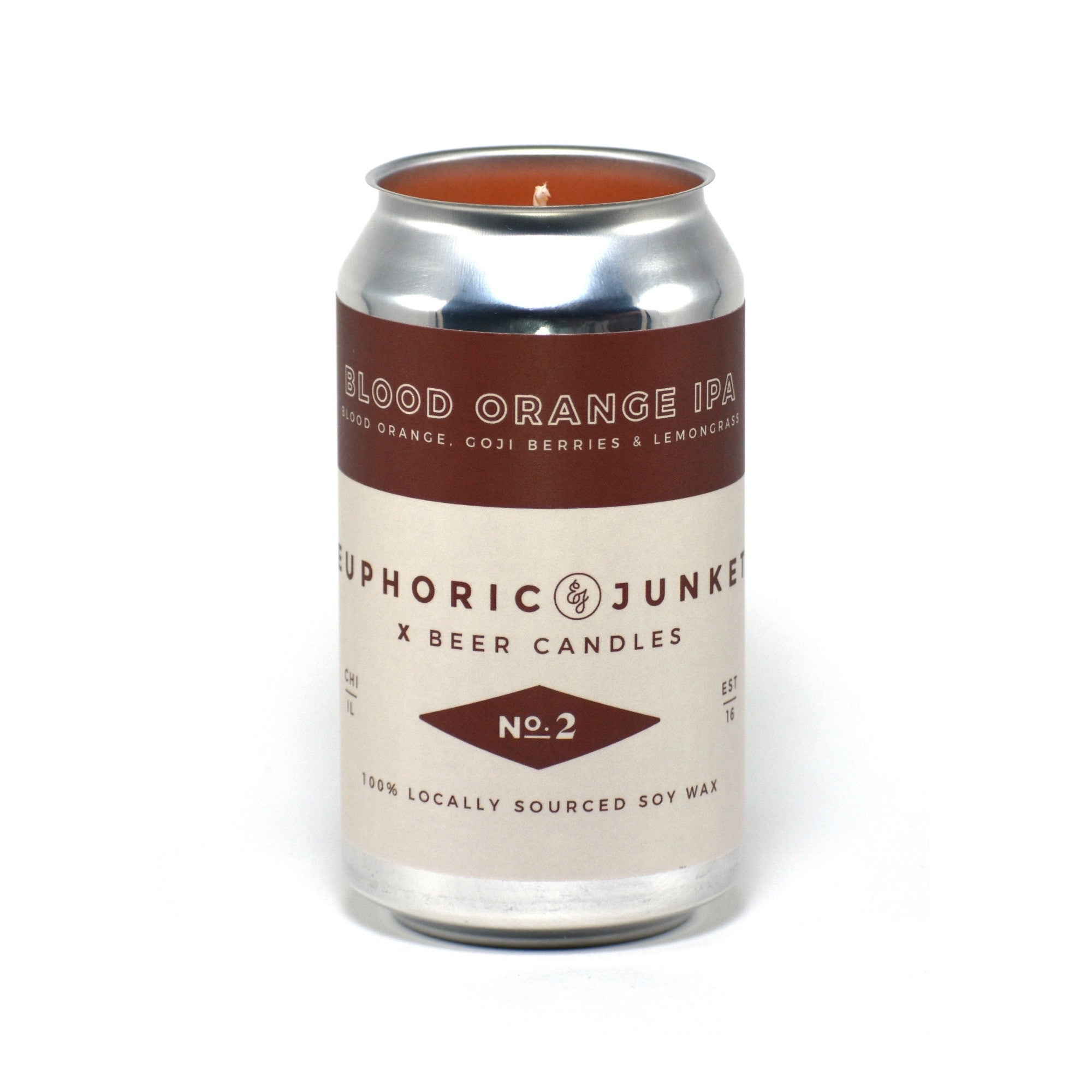 Blood Orange IPA Beer CAN·dle