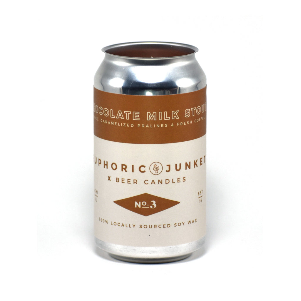 Chocolate Milk Stout 12 oz Beer CAN·dle