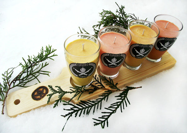 Craft Candle Flight | Natural Wood