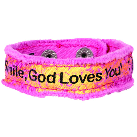 Smile Cherished Canvas Bracelet
