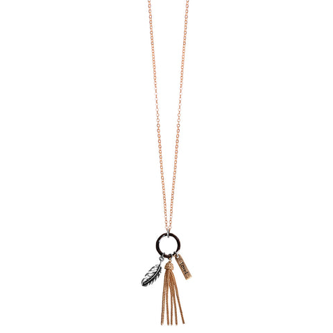 Feathers Tassel Women's Necklace