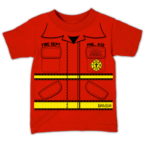 Fire Department Kids Christian T-Shirt