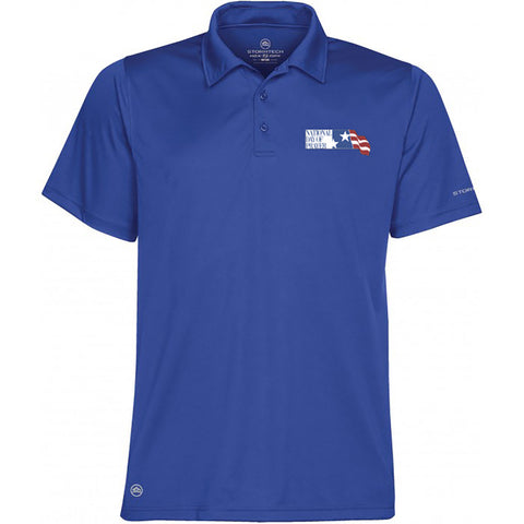 National Day of Prayer Men's Royal Blue Dry Polo