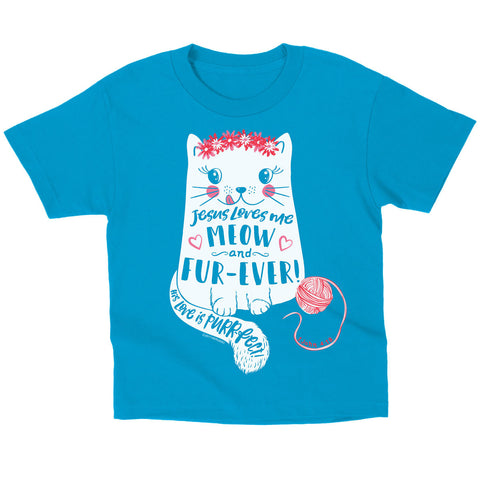 Meow and Forever Kids T-Shirt