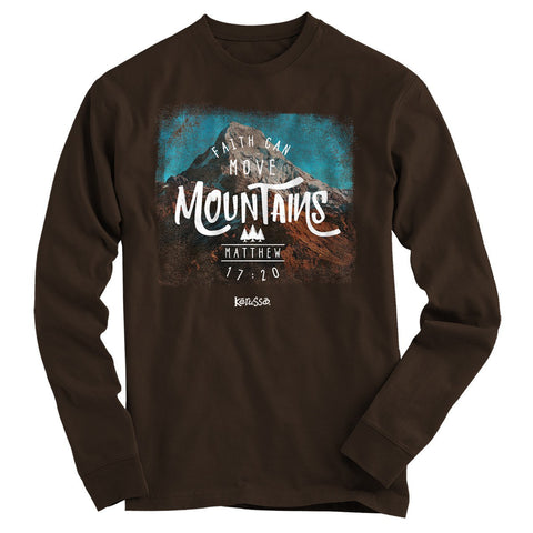 Faith Can Move Mountains Long Sleeve Christian T-Shirt