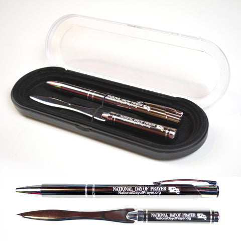 National Day of Prayer Pen and Letter Opener Gift Set
