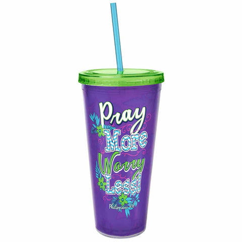 Pray More Acrylic Tumbler