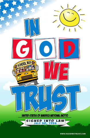 In God We Trust Elementary Poster