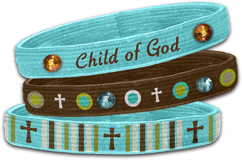 Child Of God - Christian Stretch Bangles (3 Pk)