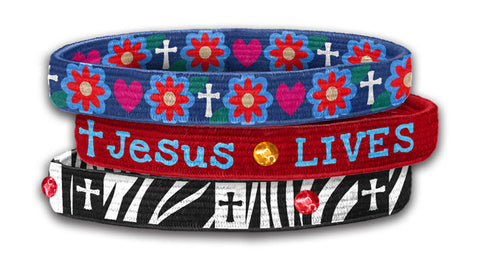 Lives In My Heart - Christian Stretch Bangles (3 Pk)