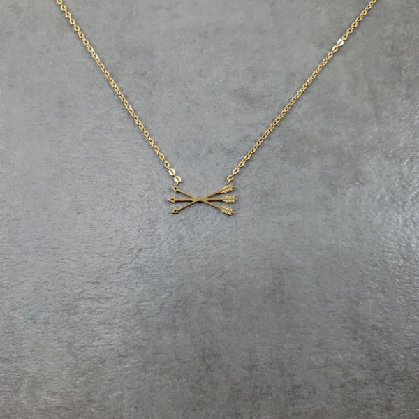 3 Arrows Gold Necklace