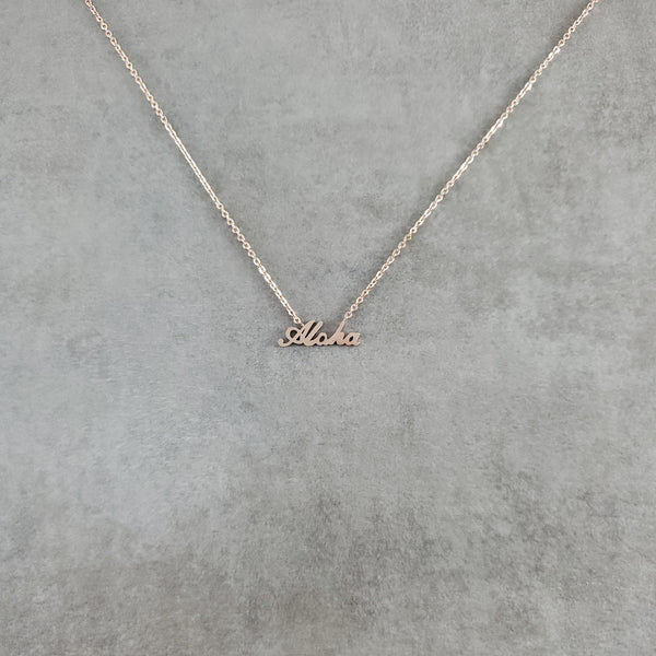 Aloha Rose Gold Necklace