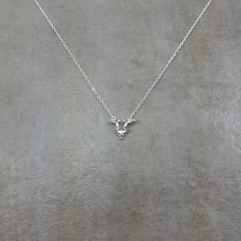 Reindeer Antler Silver Necklace