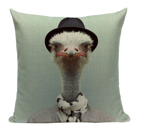 Ostrich Animal Pillow A2