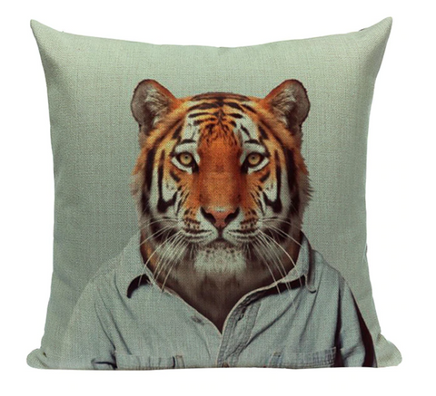 Tiger Animal Pillow A4