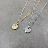Custom Initial Coin Gold Silver Necklace