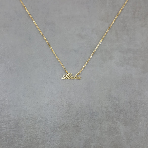 Aloha gold chain necklace