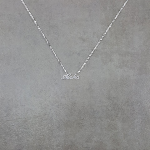 Aloha Silver Necklace