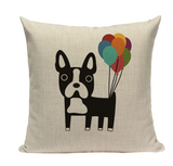 Boston Terrier Balloons Pillow B13